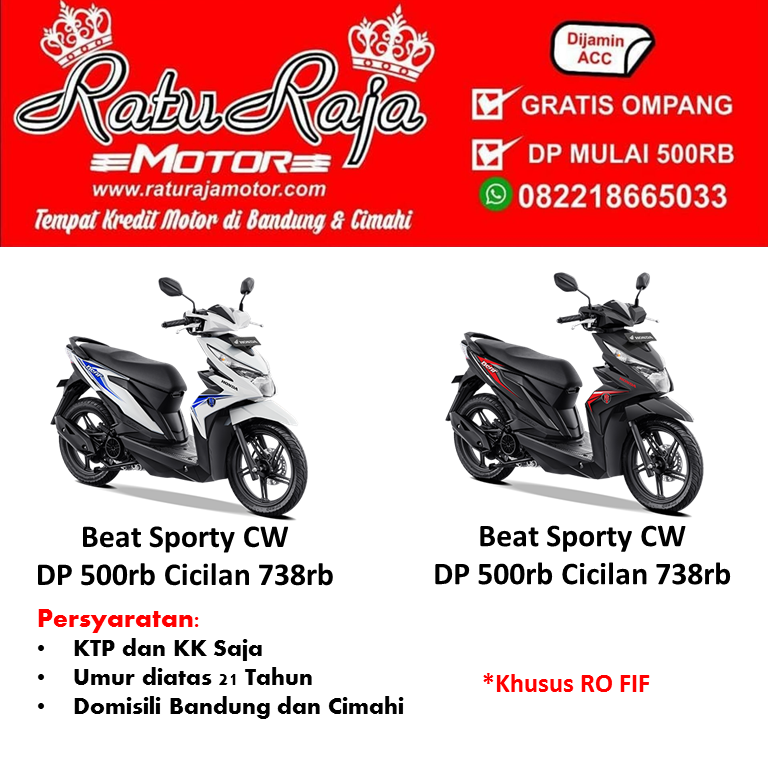 Brosur Kredit Motor Honda Beat Sporty CW DP 500rb
